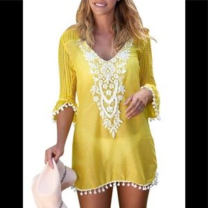 Other - Yellow Beach Cover up Brand New